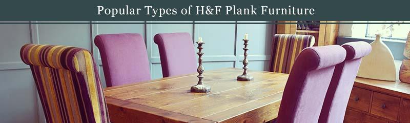 popular types of plank furniture