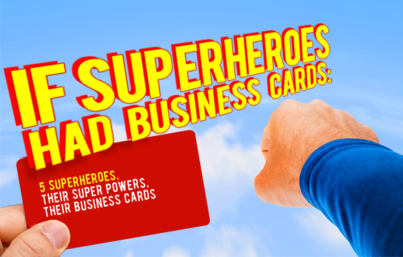 If Superheroes had business cards