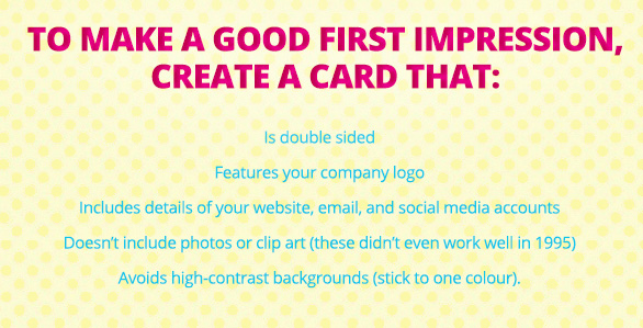 To Make a Good First Impression, Create a Card That