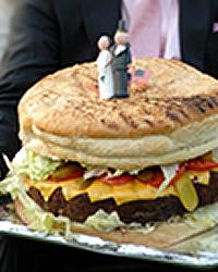 Giant Burger Cake