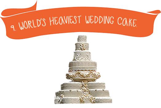 9. World`s Heaviest Wedding Cake