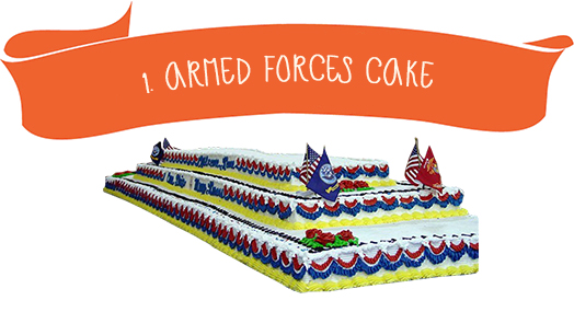 1. Armed Forces Cake