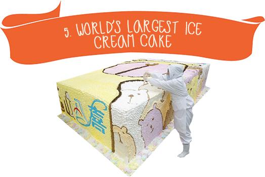 5.World`s Largest Ice Cream Cake