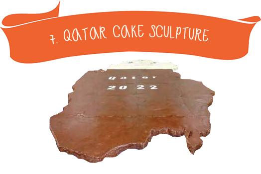 7. Quatar Cake Sculpture