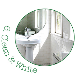 Clean & White Bathroom